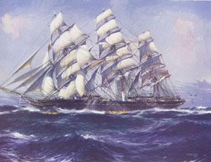 Maqueta de velero en artesanía náutica del barco Cutty Sark