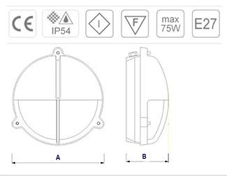 Especificaciones técnicas y medidas del aplique marino para la pared de bronce