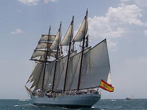 Modelismo naval de artesanía náutica del velero buque escuela Juan Sebastián Elcano