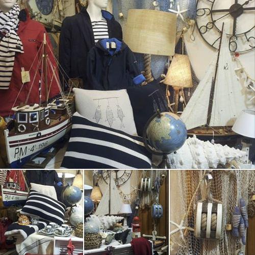Palamós, Costa Brava, tienda náutica y marina para la decoración marinera